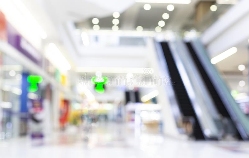 Abstract Blur Shopping Mall And Retail Stores Interior. For Background royalty free stock photos