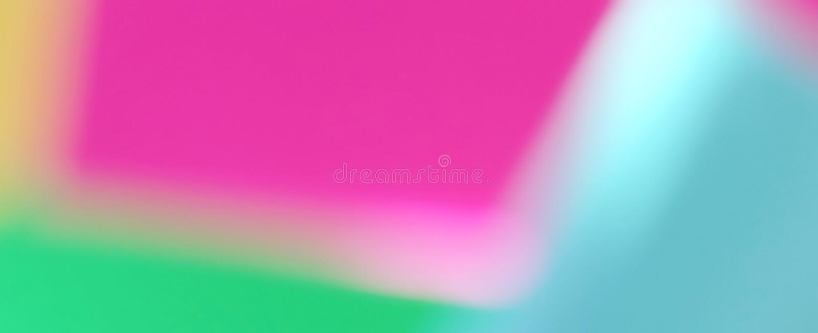Abstract blured defocused effect geometric paper background. Neon trend fashion colors royalty free stock images