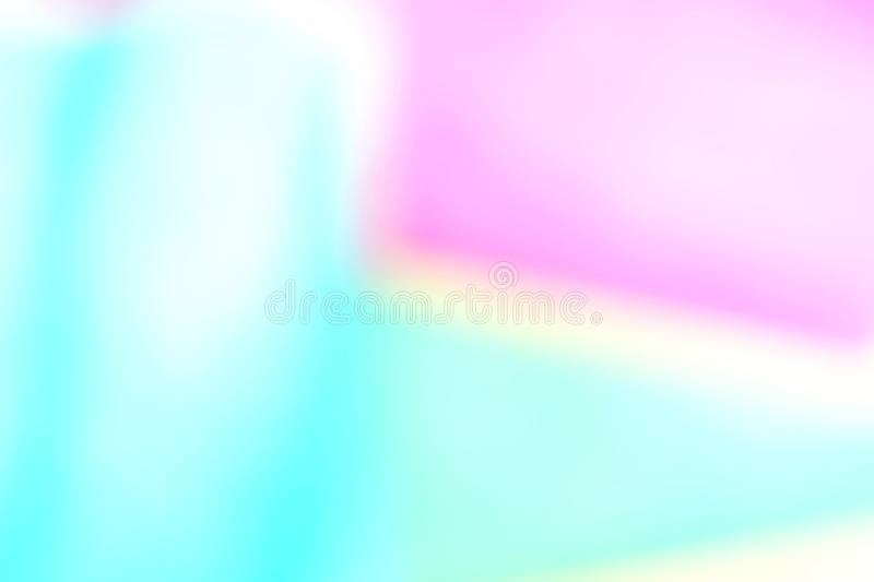 Abstract blured defocused effect geometric paper background. Neon trend fashion colors royalty free stock photo