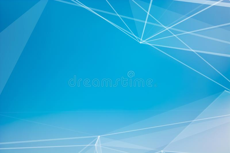 Abstract blurred background blue sky with white clouds in sunlight and geometric poligons texture royalty free stock photo