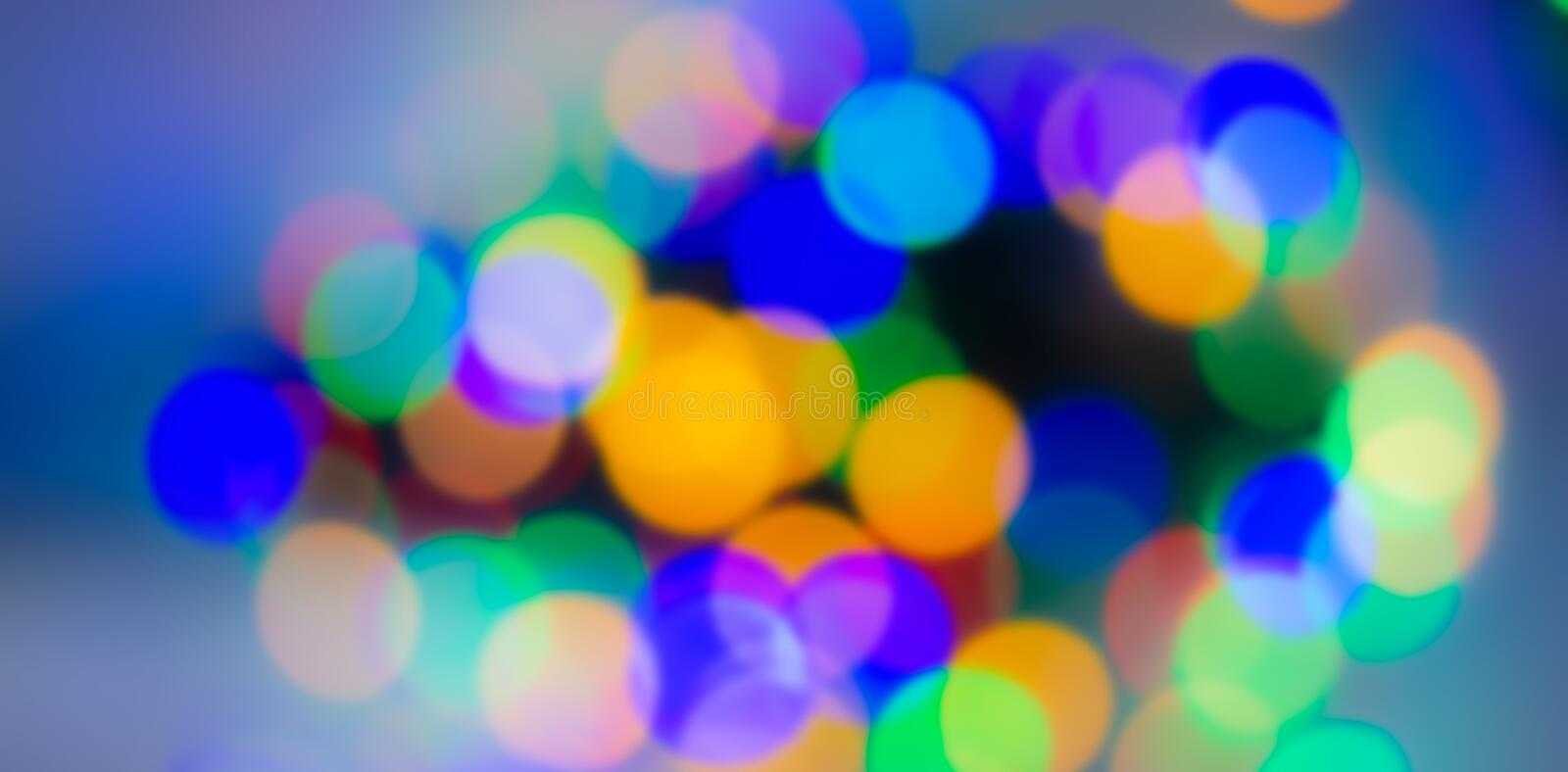 abstract blurred background, spots of light-blue, green, yellow, orange, pink. Web banner. stock photography