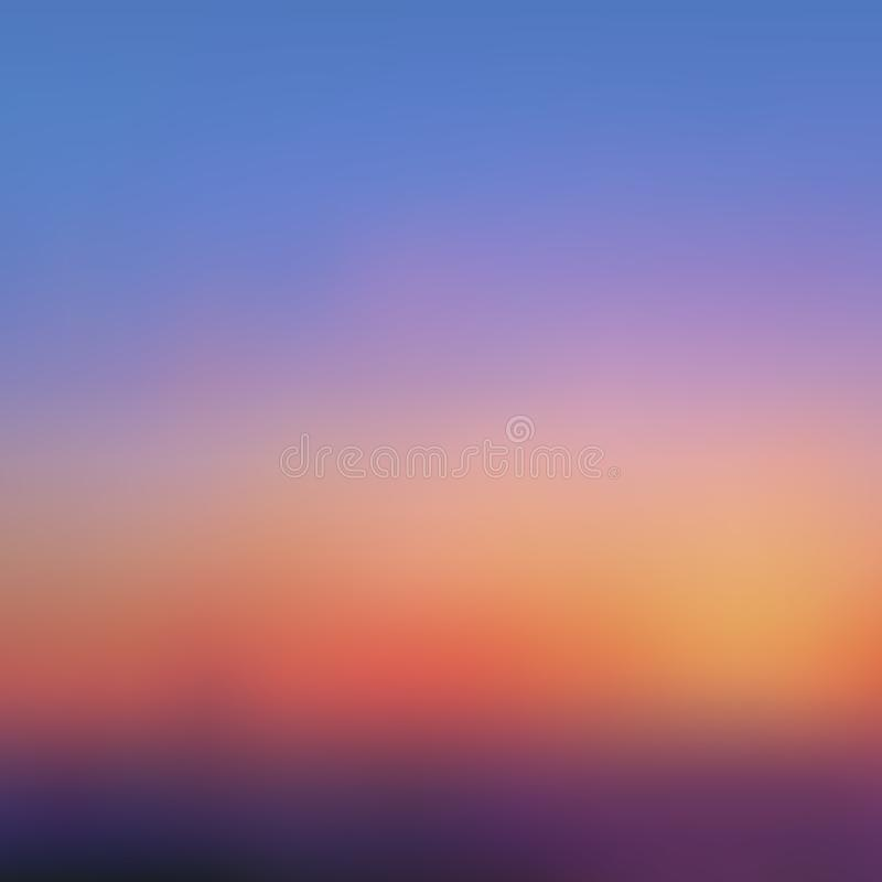 Abstract blurred background, sunset royalty free illustration
