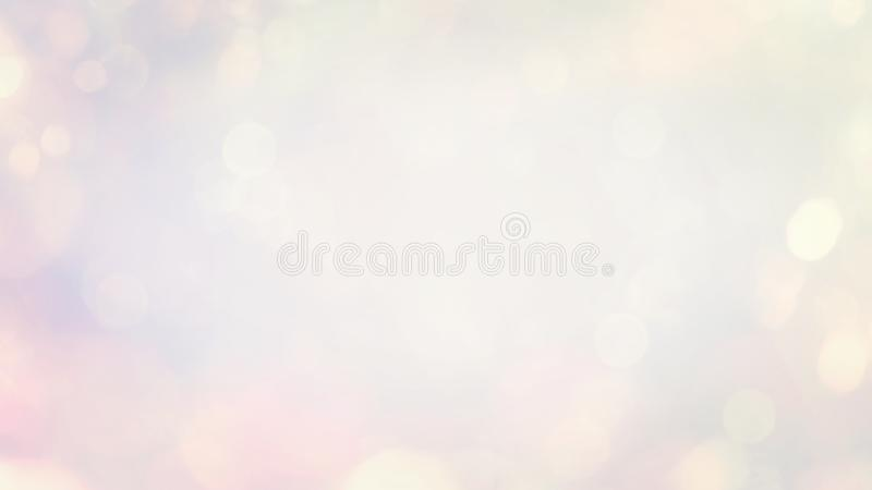 Abstract blurred beautiful glowing pastel gradient background with double exposure bokeh light royalty free illustration