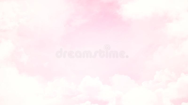 Abstract blurred beautiful soft cloud background with a pastel multicolored gradient with bokeh stock illustration
