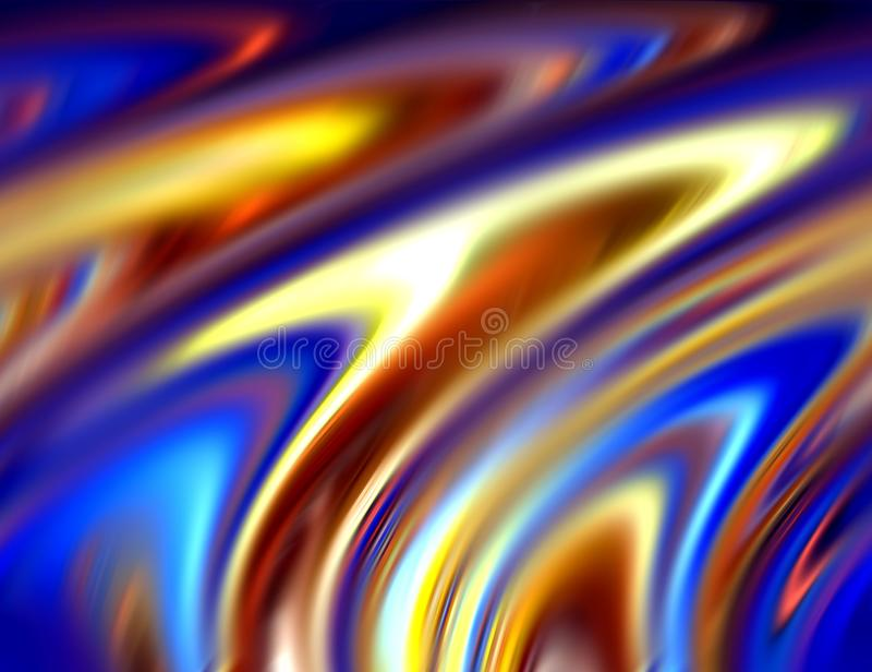 Abstract blurred blue gold phosphorescent colors and background. Lines in motion. Abstract blurred colors and lines in motion, purple, gold, phosphorescent hues vector illustration