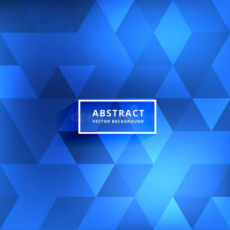 Abstract blurred blue shiny triangle patterns vector illustration