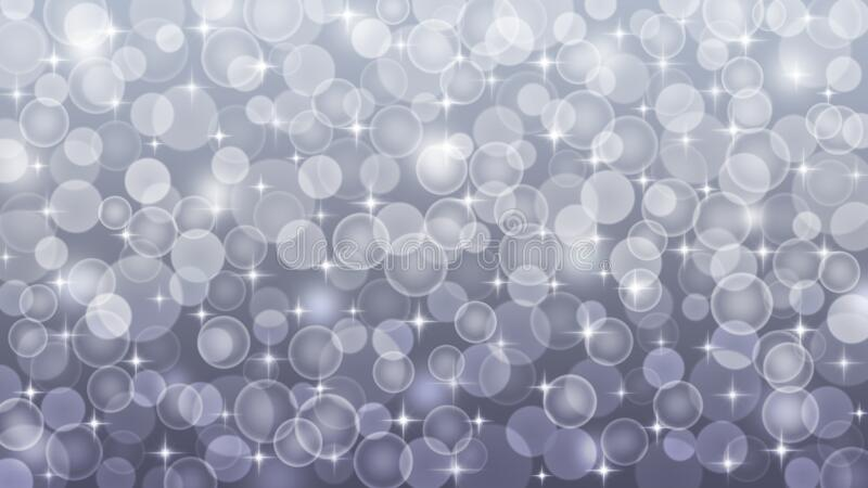 Abstract Blurred Bokeh, Shining Sparkles and Bubbles in Dark Grey Background royalty free stock photo