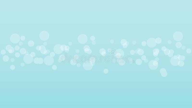 Abstract blurred bright bokeh on blue background. stock images