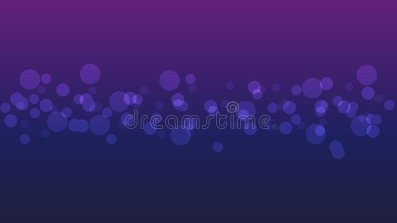 Abstract blurred bright bokeh on purple background. royalty free stock photos