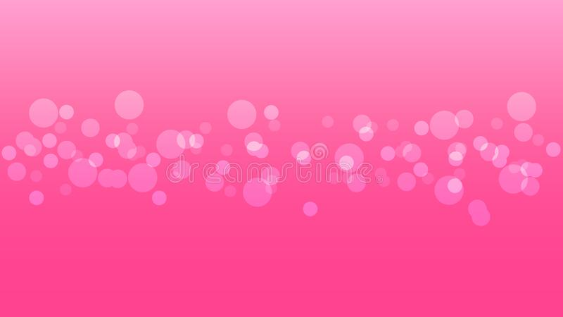 Abstract blurred bright bokeh on pink background. royalty free stock image