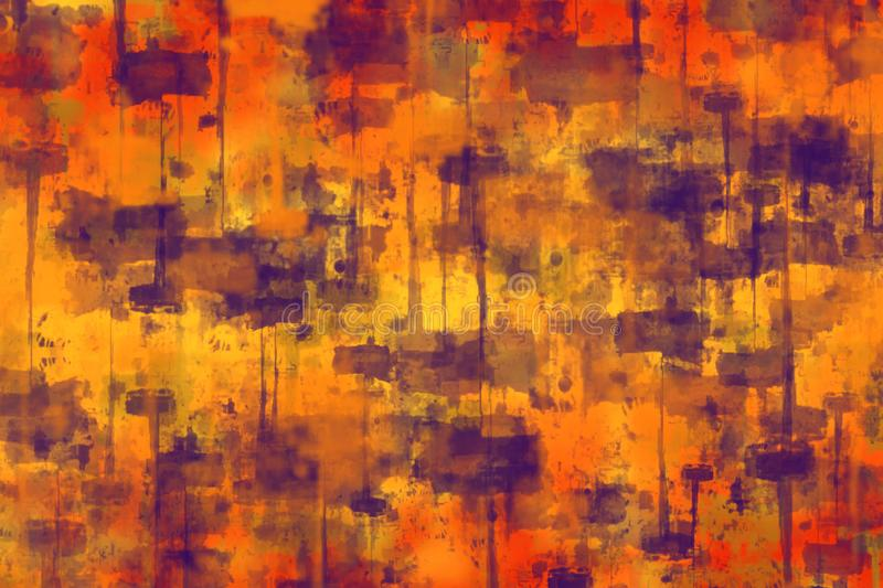 Abstract blurred colorful background with prints of paint strokes, smudges, modern fashion style stock illustration