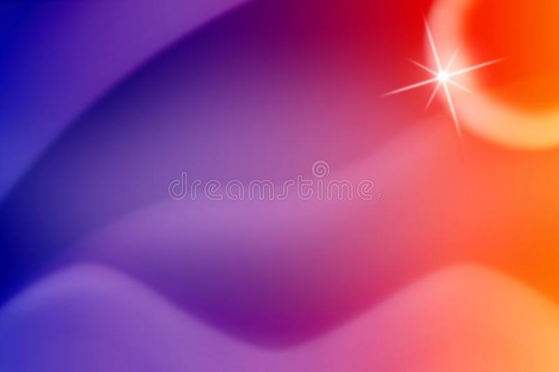 Shiny Sparkle and Curves in Colorful Blurred Background vector illustration