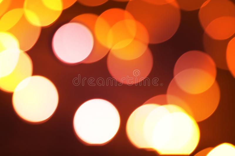 Abstract blurred colorful bokeh lights background. Defocused glitter light stock photography