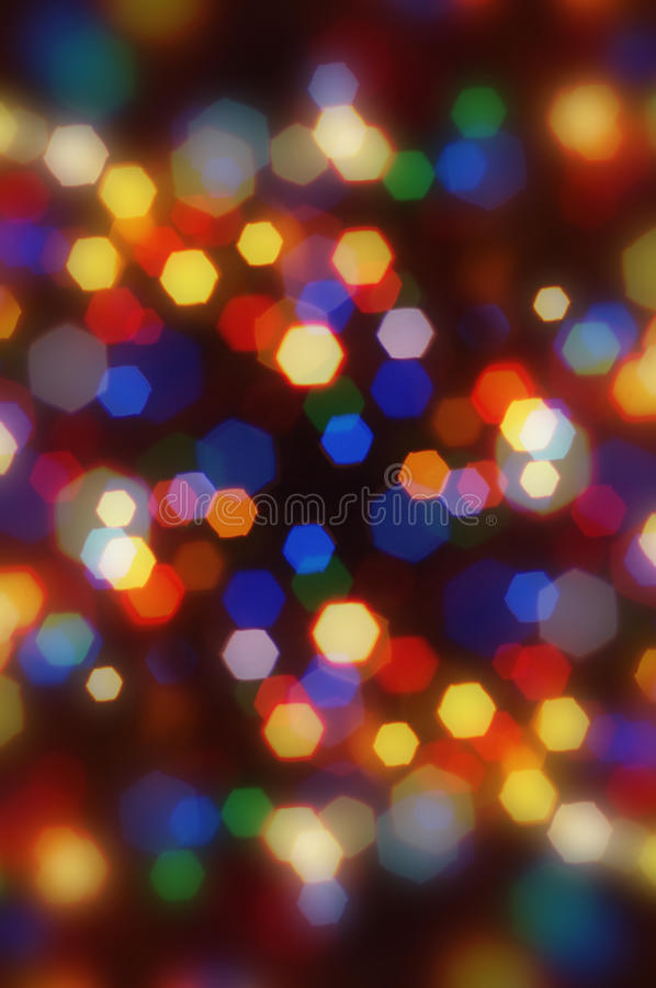 Abstract Blurred Colorful Christmas Bokeh. Stock Photography