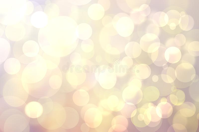 Abstract blurred fresh vivid spring summer light delicate pastel pink white yellow bokeh background texture with bright circular. Soft color lights. Beautiful royalty free stock photos
