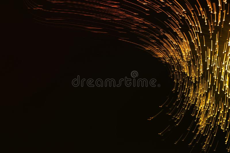Abstract blurred golden light stock photos