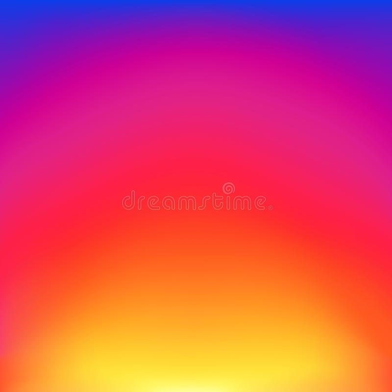 Abstract blurred gradient background with glow blue, red, purple and yellow color. Trendy vibrant art background with blur color. stock illustration