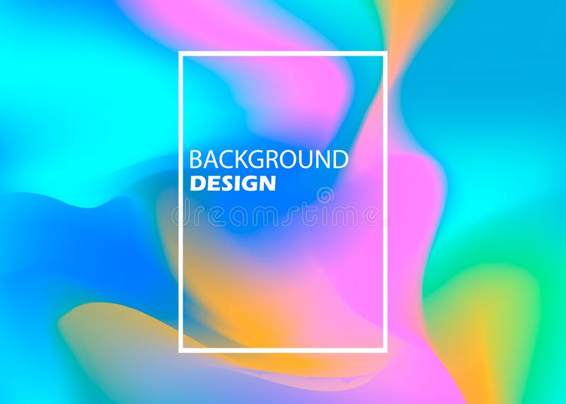 Abstract blurred gradient mesh background in bright rainbow colors. Colorful smooth banner template. Easy editable soft stock illustration