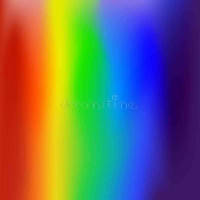 Abstract Blurred Gradient Mesh Background in Bright Rainbow Colors. Light Multicolor Texture. Colorful Banner Template. stock illustration