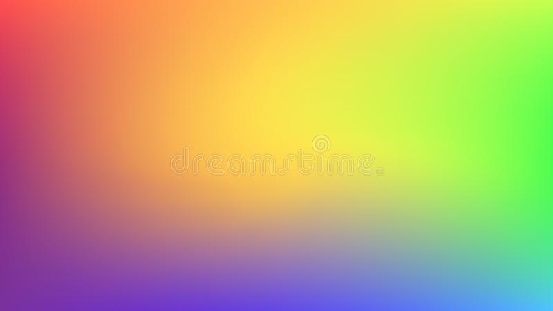Abstract blurred gradient mesh background. Colorful smooth banner background. Bright rainbow colors blend illustration. Vector stock illustration