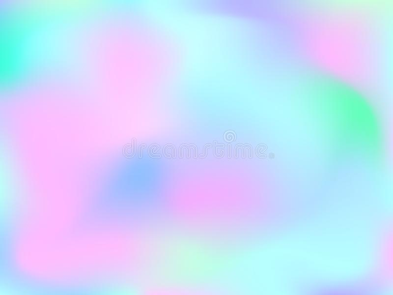 NGradient mesh abstract background. Abstract blurred gradient mesh background. Colorful smooth banner template.Trendy creative vector. Intense blank Holographic royalty free illustration