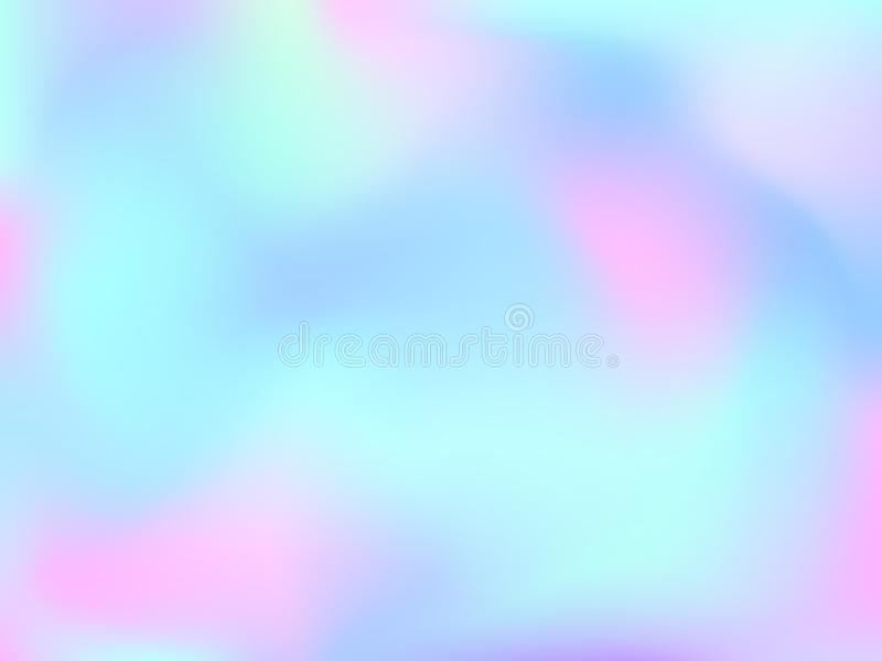 NGradient mesh abstract background. Abstract blurred gradient mesh background. Colorful smooth banner template.Trendy creative vector. Intense blank Holographic stock illustration