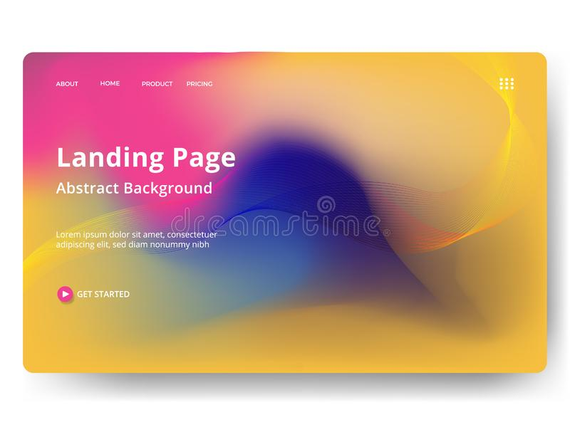 Abstract blurred holographic gradient effect background. Concepts for website and mobile app development vector illustration