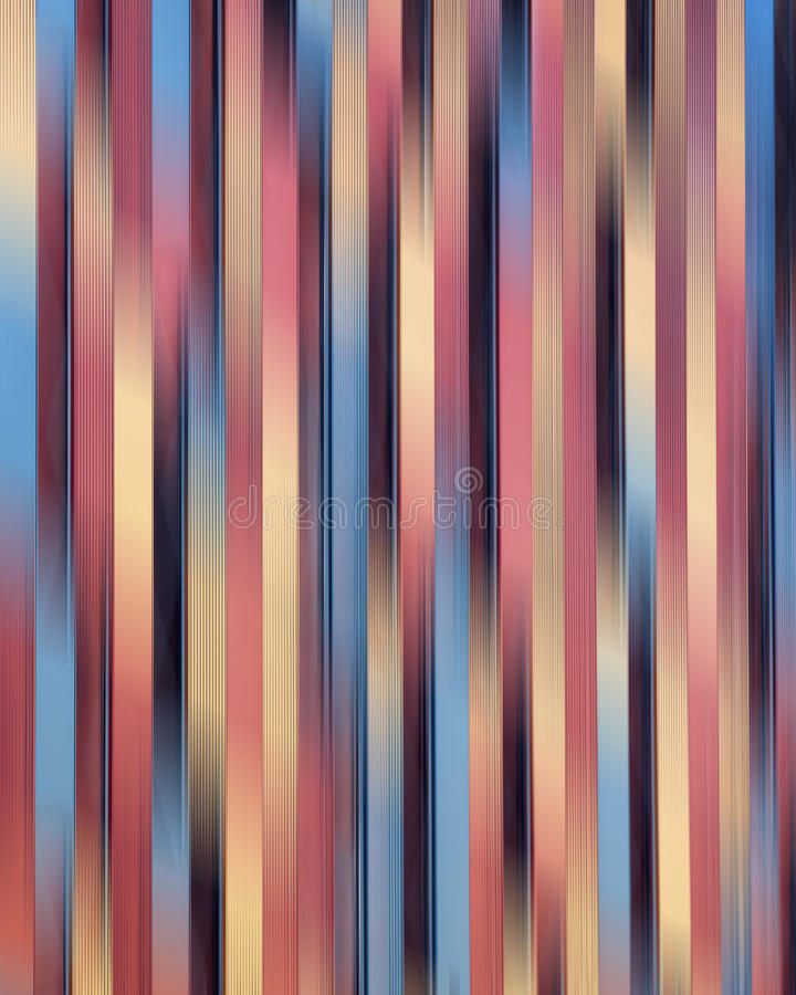 Abstract blurred illustration. Abstract blurred striped colorful background with vertical lines stock illustration