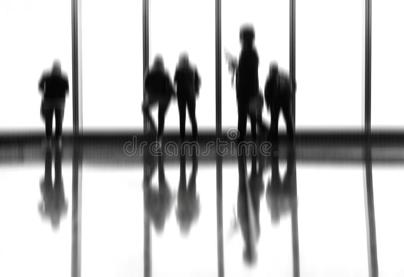 People in the lobby royalty free stock images