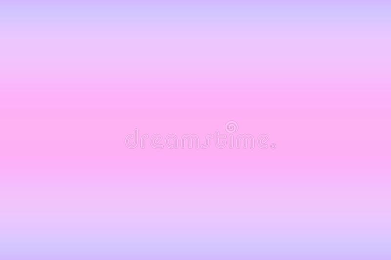 Abstract blurred multicolored gradient background with smooth gradation of cold pink blue pastel colors. Template for design. Abstract blurred multicolored stock illustration