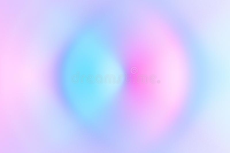 Abstract blurred multicolored swirl radial background spectrum neon pastel colors. Science energy sonic sound ripple wave royalty free illustration