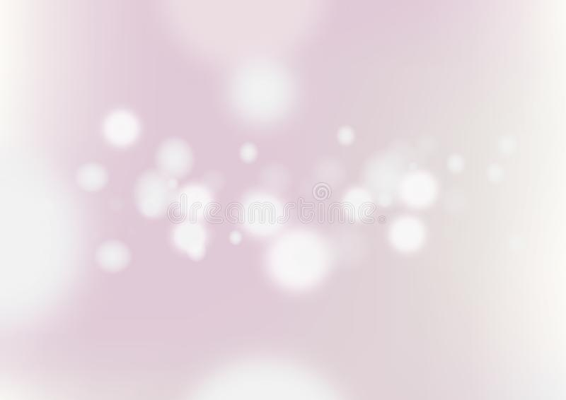 Abstract blurred pink background with light bokeh. royalty free illustration
