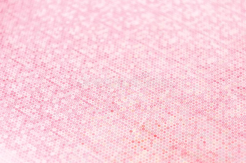 Abstract Blurred pink tone background with a small depth of field. Circular bokeh background. stock photography