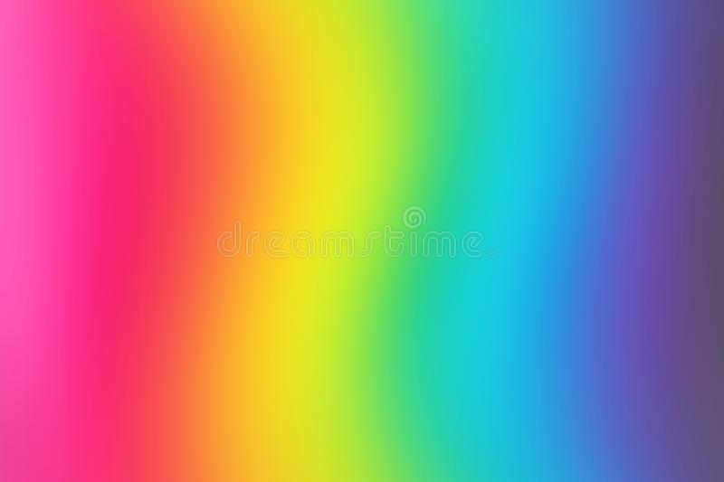 Abstract blurred rainbow background. Colorful wallpaper. Bright colors royalty free illustration
