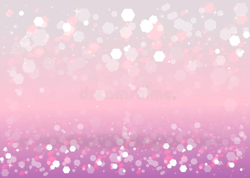 Abstract blurred soft focus bokeh of bright pink and light red and violet background royalty free illustration
