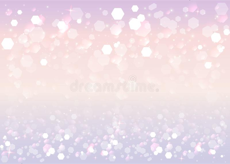 Abstract blurred soft focus bokeh of bright purple, yellow and violet background vector illustration