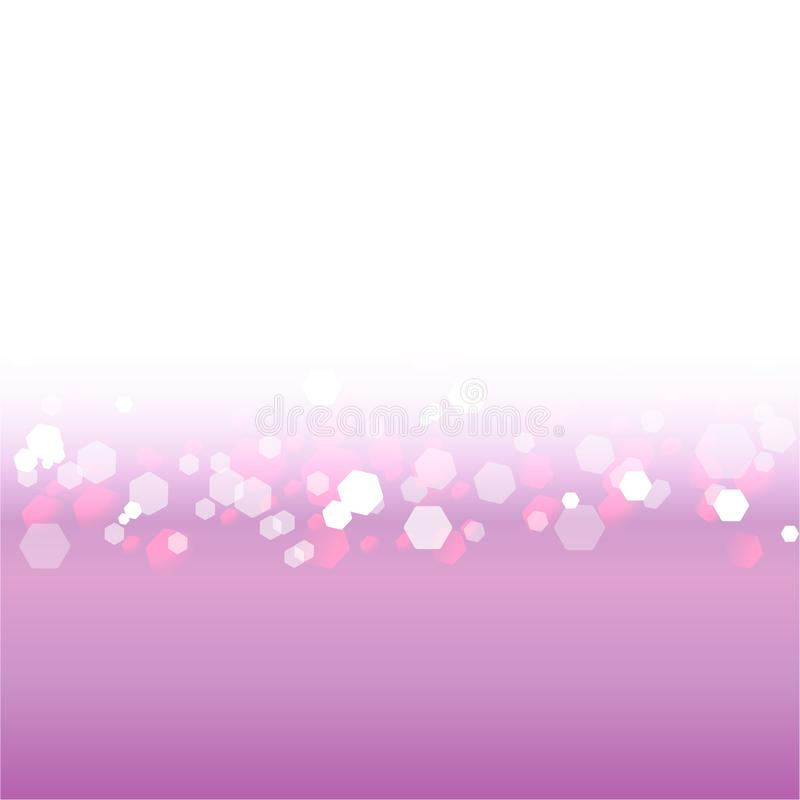 Abstract blurred soft focus bokeh of bright white, violet and pink background royalty free illustration
