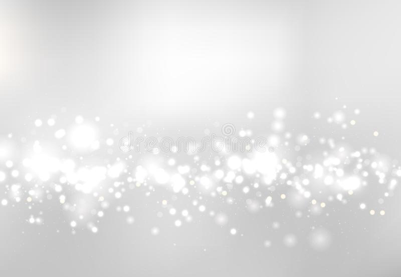 Abstract blurred soft focus bokeh of white and gray color background concept, copy space. Vector illustration royalty free illustration