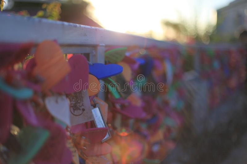 Abstract, blurred, tag of lover, sun shine in Guam royalty free stock photography