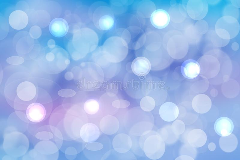 Abstract blurred vivid spring summer light delicate pastel blue pink bokeh background texture with bright soft color circles and. Bokeh lights. Card concept vector illustration