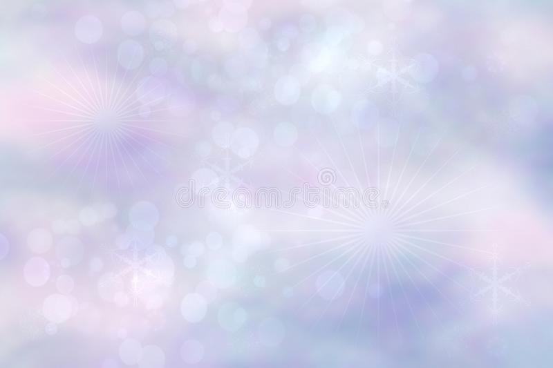 Abstract blurred vivid spring summer light delicate pastel blue pink bokeh background texture with bright soft color circles and royalty free stock image
