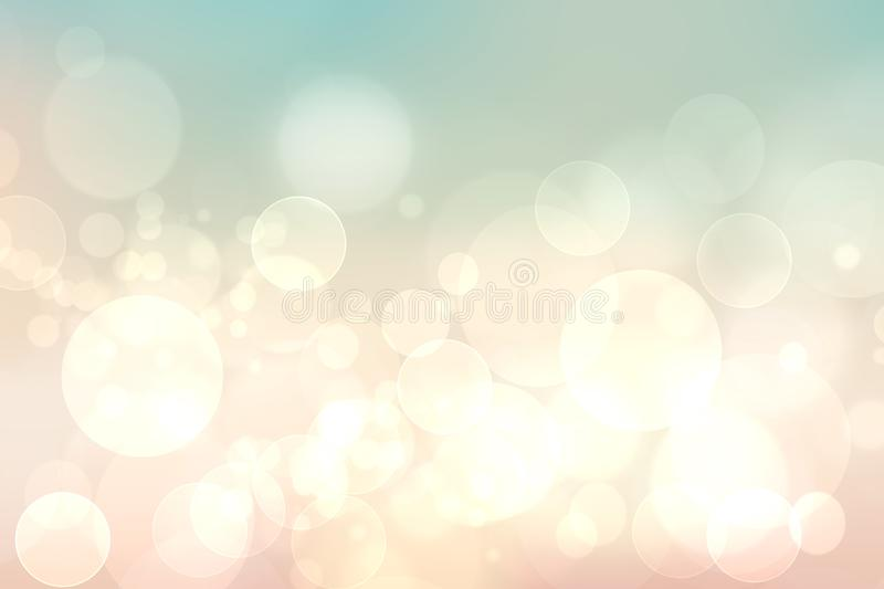 Abstract blurred vivid spring summer light delicate pastel pink bokeh background texture with bright soft color circles. Space for. Your text. Beautiful royalty free illustration