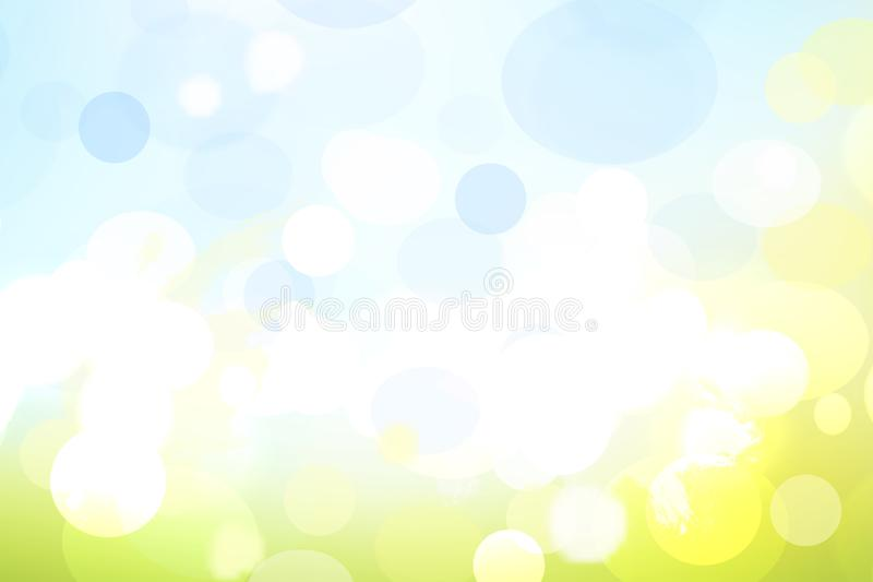 Abstract blurred vivid spring summer pastel bokeh background texture with bright soft color circles. Space for your text. Beautiful backdrop illustration stock illustration