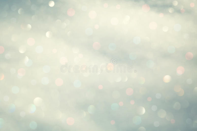 Abstract blurred winter bokeh. Light background stock photos