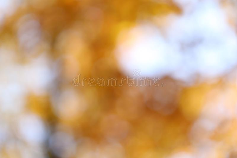 Abstract blurred yellow bokeh background. stock image