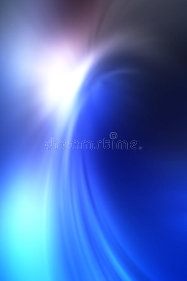 Abstract blurry background made of blue tones. That looks like sun is shining on the top of the big blue wave vector illustration