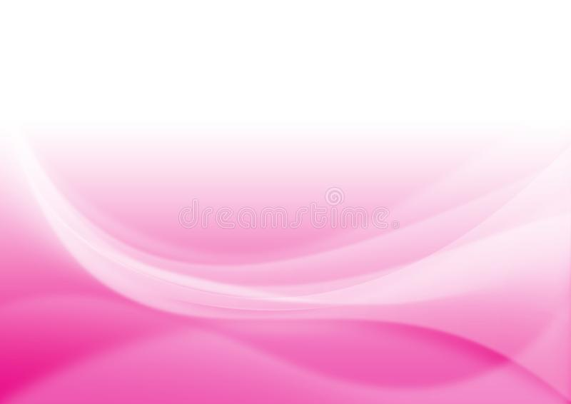 Abstract Blurry Curves in Pink Background. Abstract image of blurry shiny curves in pink background for web background, wallpaper, backdrop, postcard or poster royalty free stock image