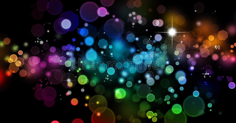 Abstract blurs on dark background. Abstract color blurs on dark background royalty free illustration