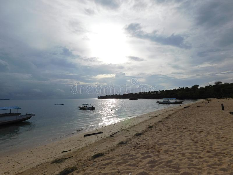 Abstract, boat, beach, sky, nature stock photo