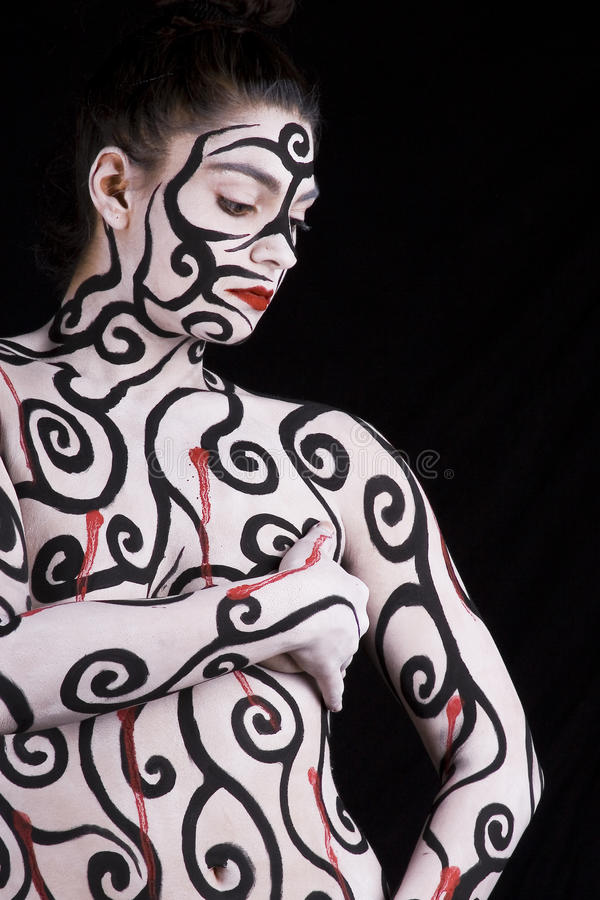 Abstract Body Painting royalty free stock photography